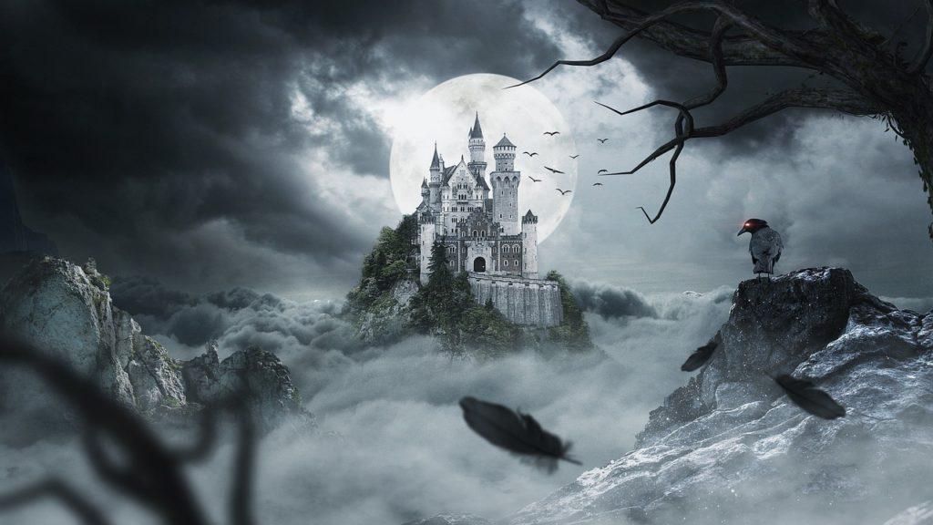 Schloss Dark Fantasy Atmosphäre